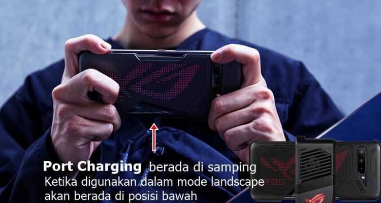 Posisi port charger ASUS ROG Phone 3