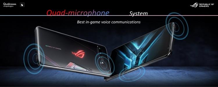 Quad microphone ASUS ROG Phone 3