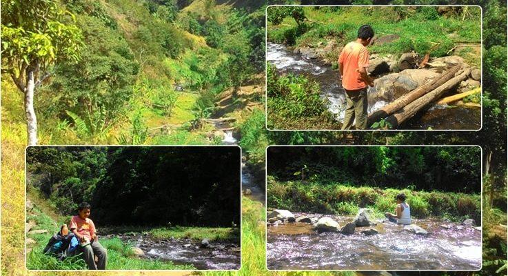 Perjalanan menuju air terjun Pattirana